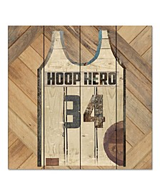 "Vintage like Sports Hoop Hero 12"" x 12"" Wood Pallet Wall Art"
