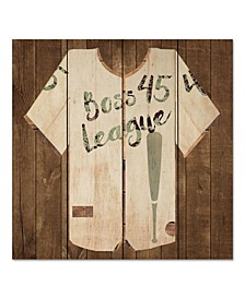 "Vintage like Sports Boss League 12"" x 12"" Wood Pallet Wall Art"