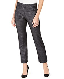 Pull-On Foil Jacquard Pants, Created For Macy's