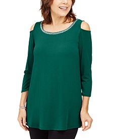 Embellished Cold-Shoulder Top, Created for Macy's