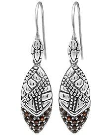 Cubic Zirconia Crocodile Classic Drop Earrings in Sterling Silver