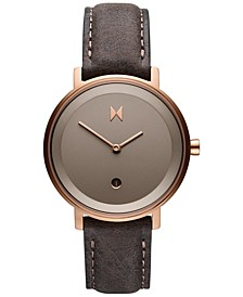 Women's Signature II Ashen Taupe Leather Strap Watch 34mm