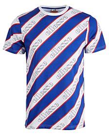 Men's Diagonally Striped Logo T-Shirt
