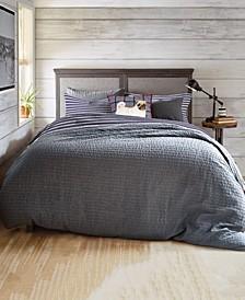 G.H. Bass Textured Flannel Stripe Twin Comforter Set