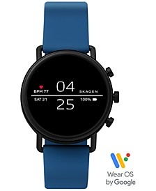 Unisex Falster 2 Blue Silicone Strap Touchscreen Smart Watch 40mm