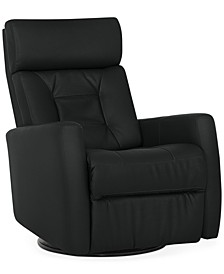 "Nedelino 32"" Leather Swivel Glider Power Recliner"