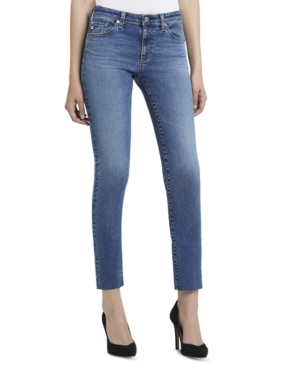 Ag Jeans has a pair that\'s sleek and effortless with these raw-hem jeans, a weekend favorite that goes with everything.