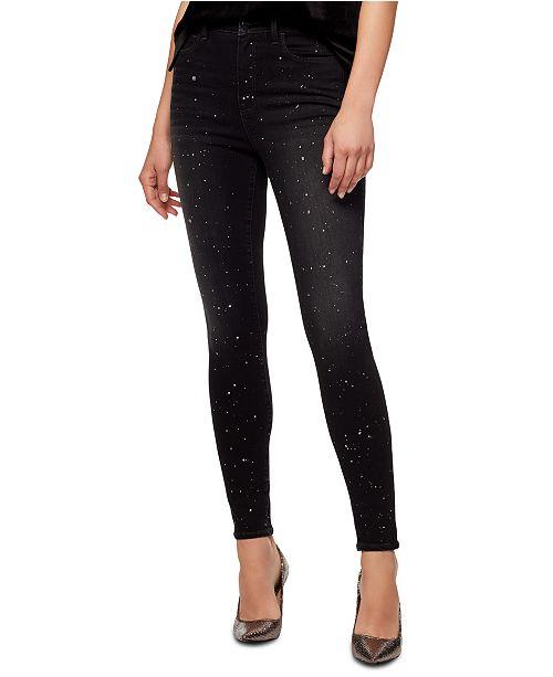 Sanctuary Metallic-Splatter Skinny Jeans