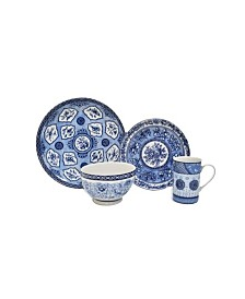 222 Fifth Blue Dynasty 16 Piece Dinnerware Set