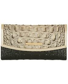 Modern Cresent Leather Checkbook Wallet