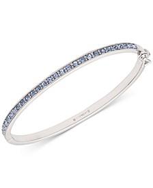 Silver-Tone Pavé Bangle Bracelet