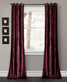 "Prima Velvet 38"" x 95"" Curtain Set"
