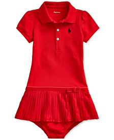 Baby Girl's Pleated Polo Dress & Bloomer