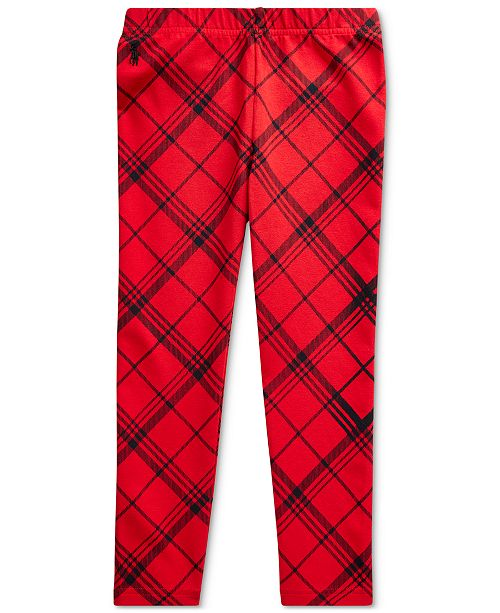 Polo Ralph Lauren Toddler Girl's Plaid Stretch Jersey Legging