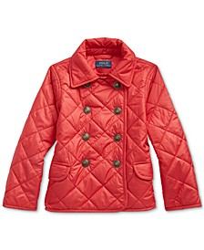 Toddler Girl's Quilted Double-Breasted Jacket