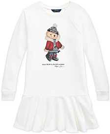 Big Girl's Holiday Bear Terry Dress