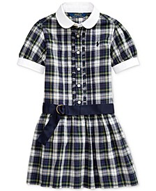 Toddler Girl's Plaid Cotton Madras Shirtdress