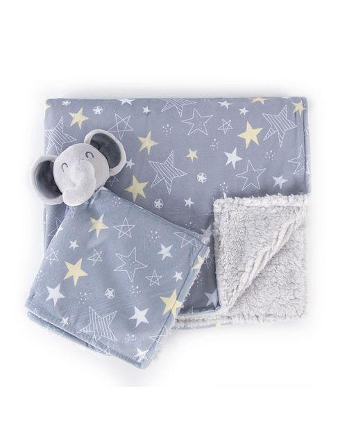 Tadpoles Stroller Blanket and Lovie Set, Crib