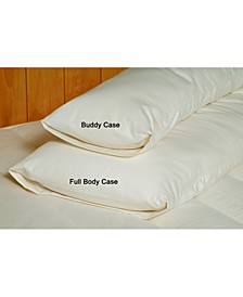 Organic Cotton Sateen Body Pillow Case, Full Size