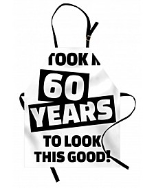 60th Birthday Apron