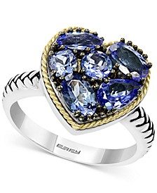 EFFY® Tanzanite Heart Ring (2-1/5 ct. t.w.) in Sterling Silver & 18k Gold over Silver