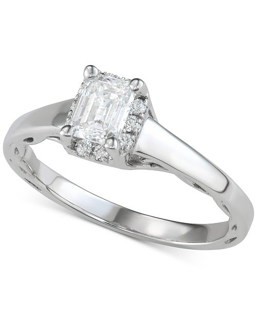 Macy's Diamond Halo Engagement Ring (1 ct. t.w.) in 14k White Gold