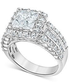 Diamond Princess Quad Cluster Engagement Ring (1-3/4 ct. t.w.) in 14k White gold