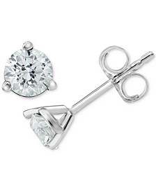 Diamond Stud Earrings (1/2 ct. t.w.) in 18k White Gold
