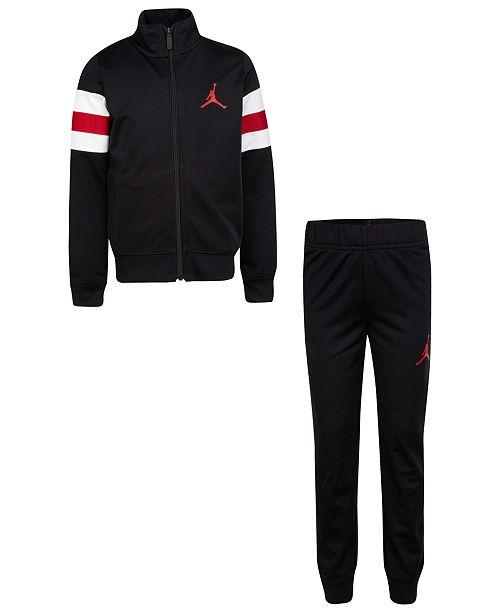 Jordan Little Boys 2-Pc. Tricot Track Jacket & Pants Set