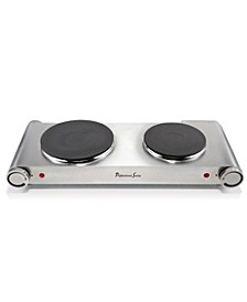 Continental Double Burner Portable Concealed Element
