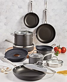 Classic 14-Pc. Non-Stick No-Boil-Over Hard Anodized Cookware Set