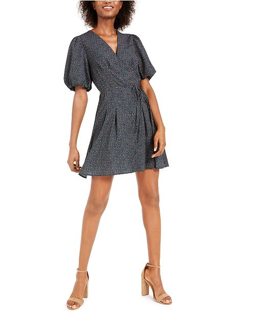 French Connection Graziana Tie-Waist Balloon-Sleeve Dress