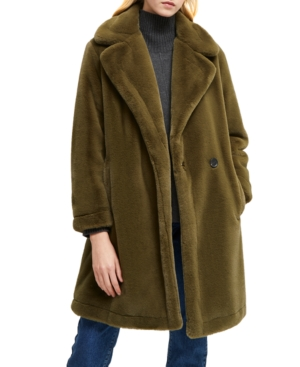 French Connection Coats BUONA FAUX-FUR COAT