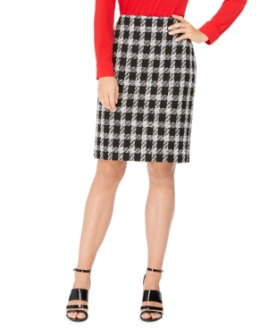 Calvin Klein Skirts CHECKED TWEED PENCIL SKIRT