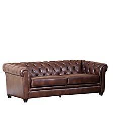 "Zoe 86"" Leather Sofa"