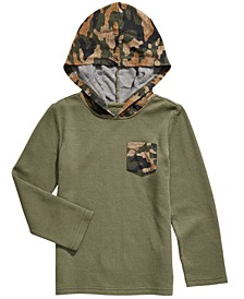 Little Boys Camo-Hooded Thermal T-Shirt, Created For Macy's