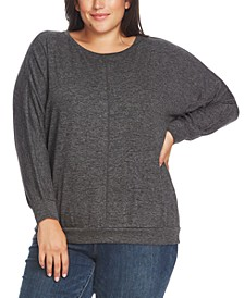 Plus Size Dolman-Sleeve Top