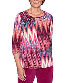 Bright Idea Printed 3/4-Sleeve Top