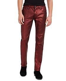 INC Men's Slim-Fit Metallic Shine Pants, Created For Macy's