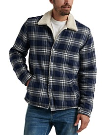 Men's Plaid Fleece-Lined Shirt Jacket