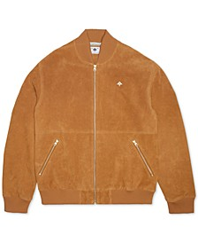 Men's Animal Planet Suede Bomber Jacket