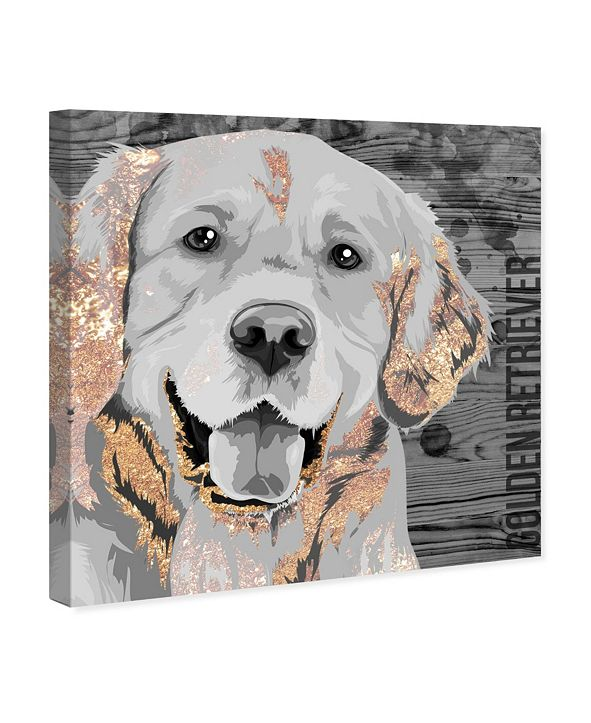 "Oliver Gal Love Golden Retriever Canvas Art, 24"" x 24"""