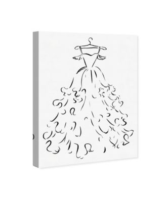 Fluffy Feather Dress Canvas Art, 30