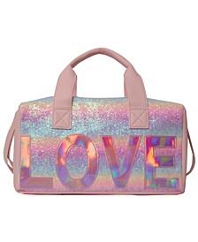 Ombre Glitter Love Duffle Bag
