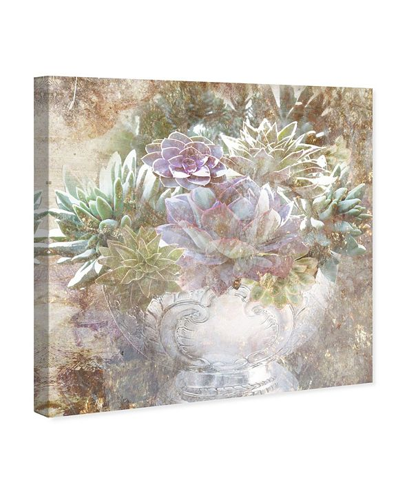 "Oliver Gal Serving Succulents Canvas Art, 36"" x 36"""