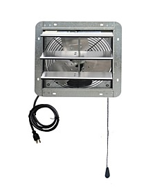 "12"" Shutter Exhaust Attic Garage Grow Fan, Ventilation Fan with 3 Speed Thermostat"