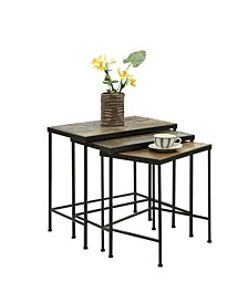 3 Piece Nesting Tables With Slate Tops