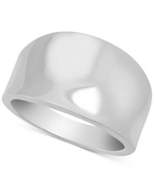 Polished Statement Ring in Fine Silver Plate