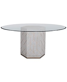 "Perrine 60"" Glass Top Round Dining Table"
