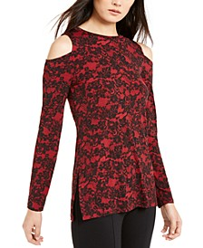 Glam Lace Cold-Shoulder Top